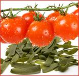 Schererhof Rezept: Brennesselnudeln mit feiner Tomatensauce